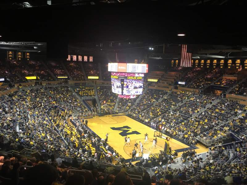Seating view for Crisler Center  Section 217 Row 37 Seat 10