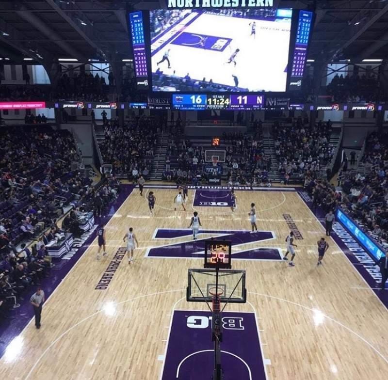 Seating view for Welsh-Ryan Arena Section 214 Row 3 Seat 6