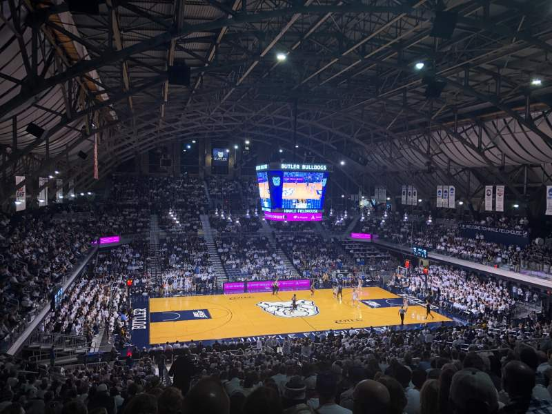 Seating view for Hinkle Fieldhouse Section 319 Row 11 Seat 22