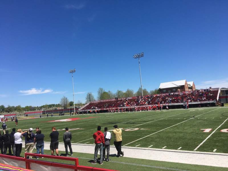 Seating view for Setzler Field Section A Row 4