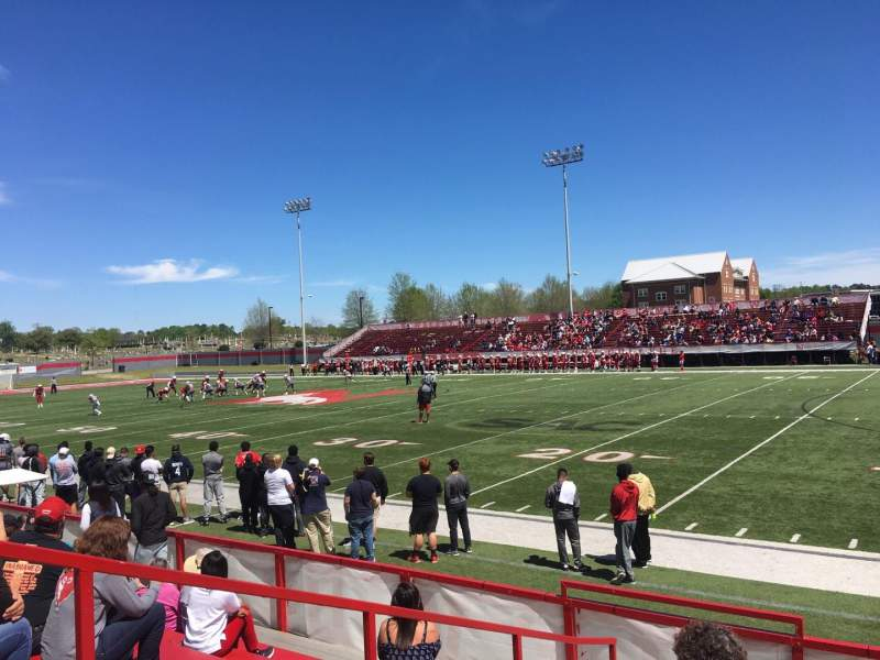 Seating view for Setzler Field Section A Row 9