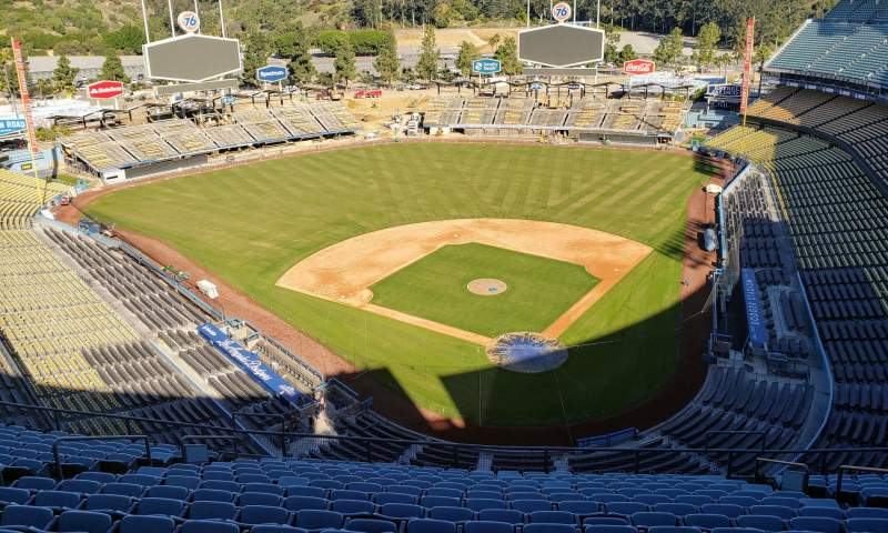 Seating view for Dodger Stadium Section Press box