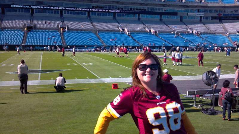 Seating view for Bank of America Stadium Section 113 Row 1A Seat 22