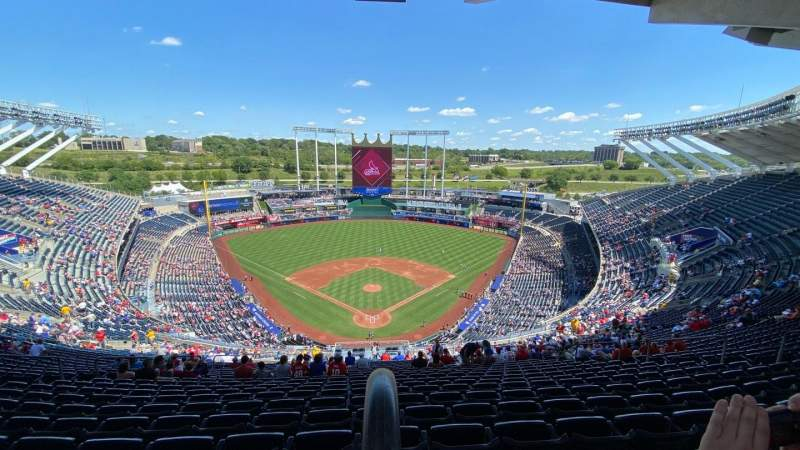 Seating view for Kauffman Stadium Section 420 Row ZZ Seat 16