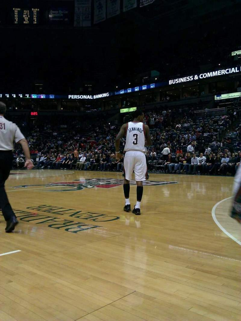Seating view for BMO Harris Bradley Center Section 227 Row AAA Seat 4