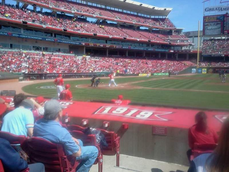 Seating view for Great American Ball Park Section 119 Row K Seat 1