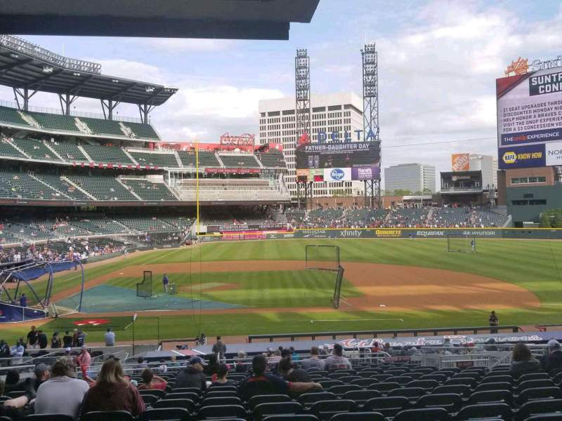 Seating view for SunTrust Park Section 120 Row 16 Seat 11