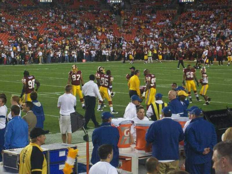 Seating view for FedEx Field Section 122 Row 2 Seat 16