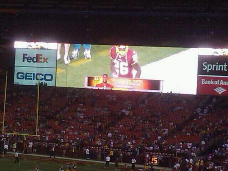 Seating view for FedEx Field Section 101