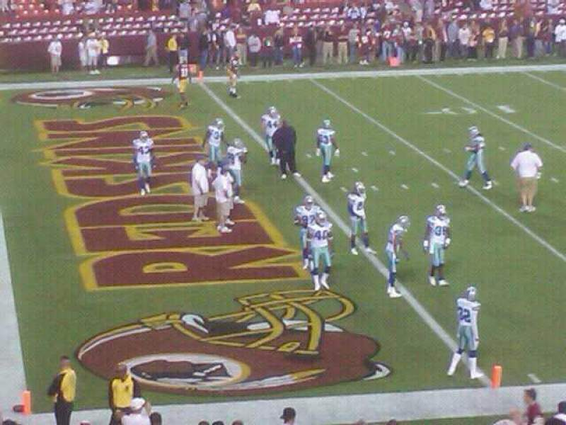 Seating view for FedEx Field Section 126