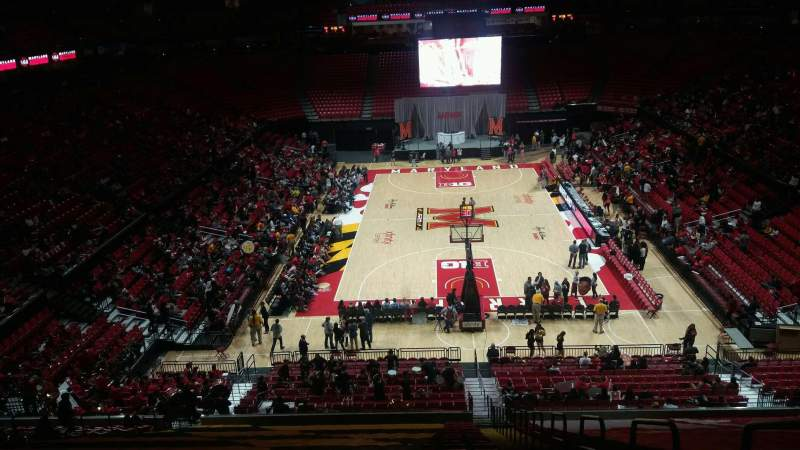 Seating view for Xfinity Center (Maryland) Section 120 Row 19 Seat 1