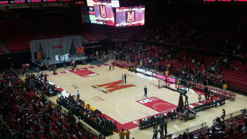 Seating view for Xfinity Center (Maryland) Section 119 Row 20 Seat 3