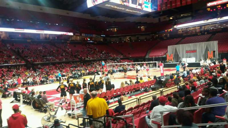 Seating view for Xfinity Center (Maryland) Section 125 Row 3 Seat 5