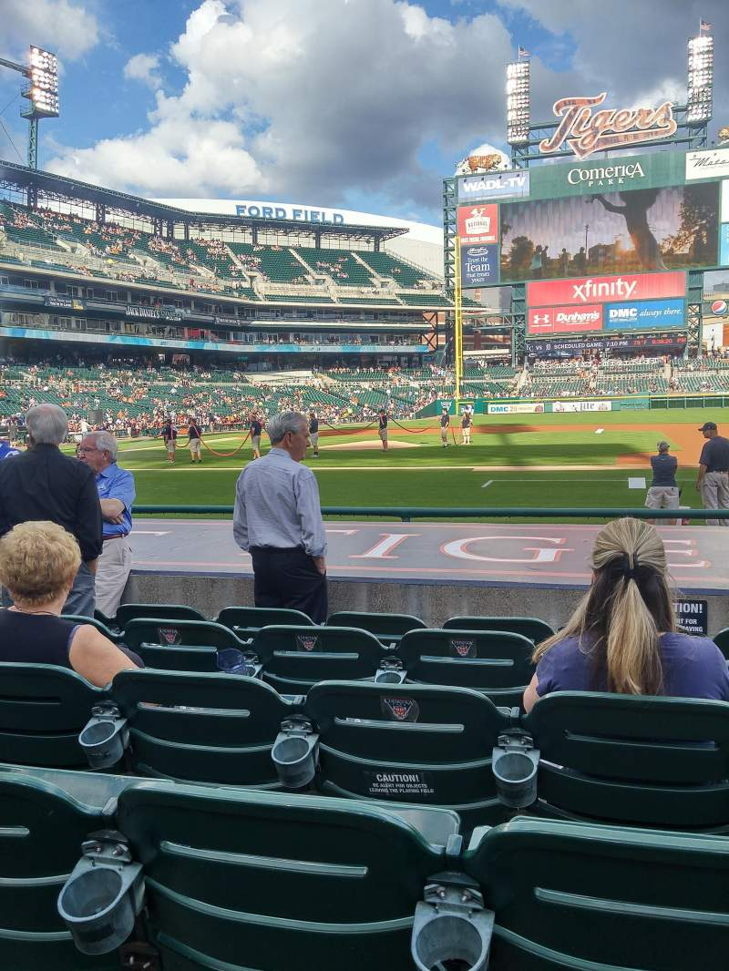 Seating view for Comerica Park Section 121 Row 12 Seat 8