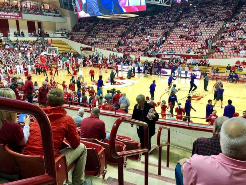 Seating view for Simon Skjodt Assembly Hall Section H Row 7 Seat 101