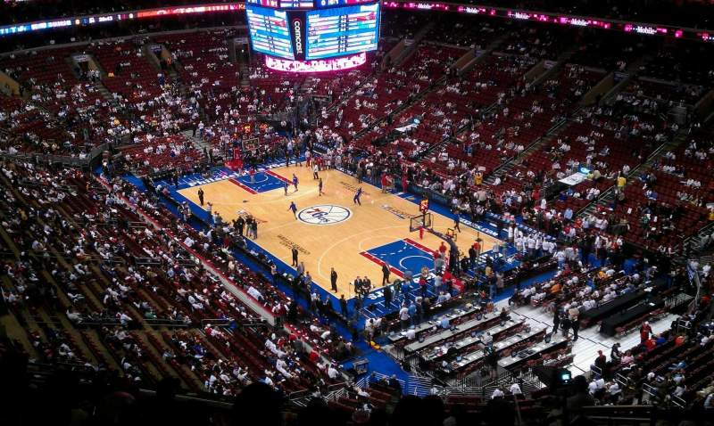 Seating view for Wells Fargo Center Section 117 Row 10 Seat 8