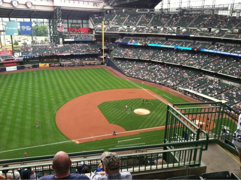 Seating view for Miller Park Section 431 Row 11 Seat 5