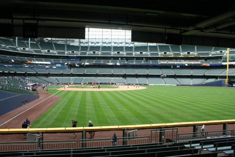Seating view for Miller Park Section 104 Row 11 Seat Bench seat