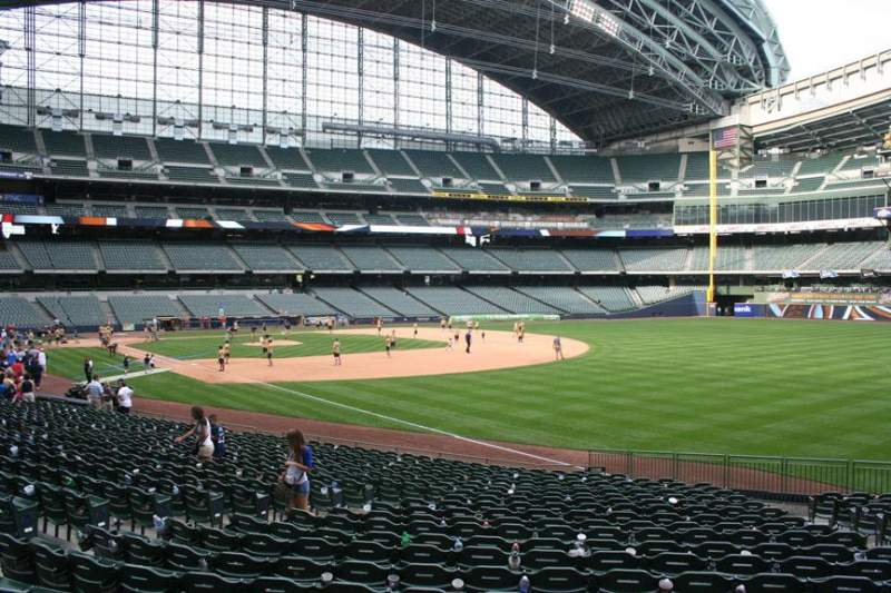 Seating view for Miller Park Section 108 Row 23 Seat 13
