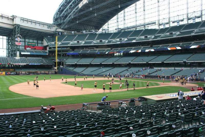 Seating view for Miller Park Section 124 Row 19 Seat 10
