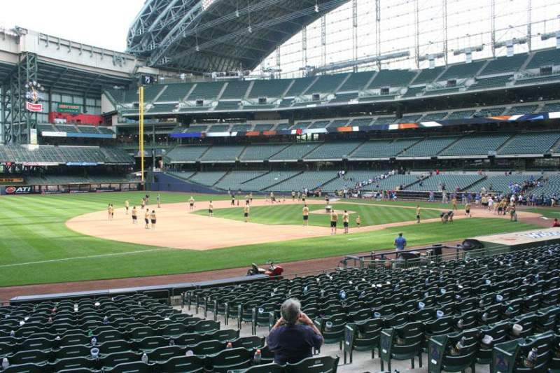 Seating view for Miller Park Section 125 Row 19 Seat 5