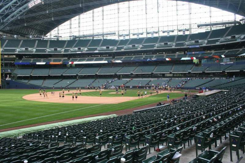 Seating view for Miller Park Section 127 Row 19 Seat 8
