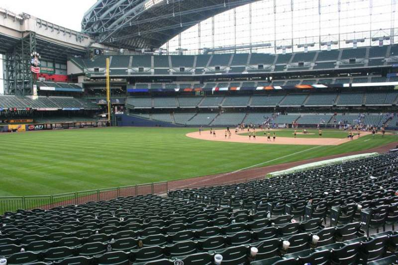 Seating view for American Family Field Section 129 Row 23 Seat 9