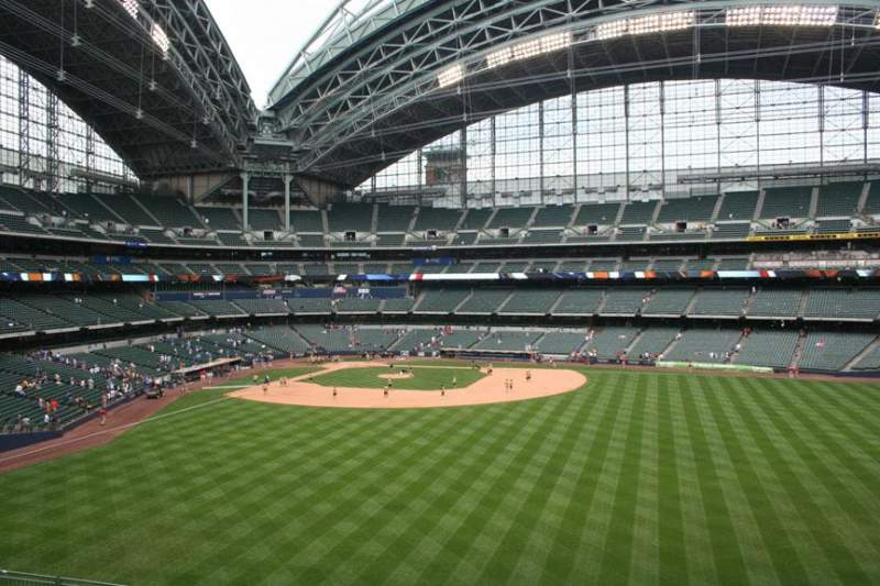 Seating view for Miller Park Section 201 Row 1 Seat 4