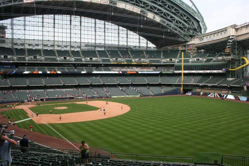 Seating view for Miller Park Section 206 Row 16 Seat 7