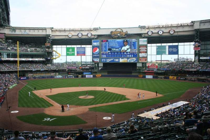 Seating view for Miller Park Section 217 Row 10 Seat 13