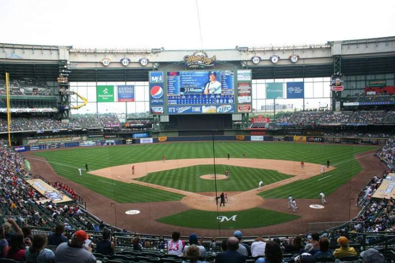 Seating view for Miller Park Section 219 Row 10 Seat 7