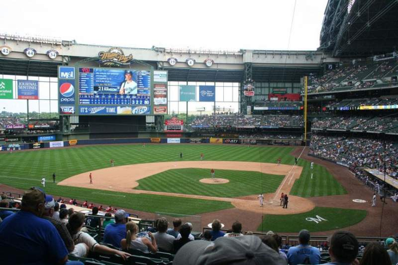 Seating view for Miller Park Section 221 Row 10 Seat 10