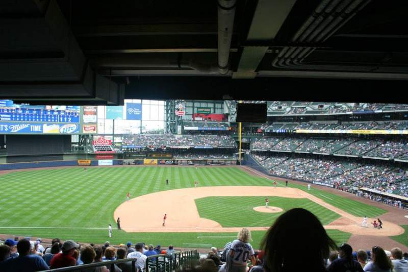 Seating view for Miller Park Section 224 Row 21 Seat 22