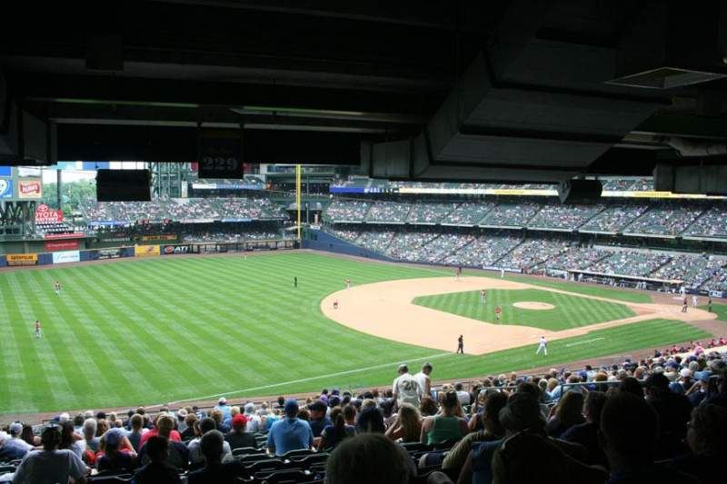Seating view for Miller Park Section 229 Row 21 Seat 11