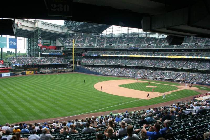 Seating view for Miller Park Section 230 Row 18 Seat 15
