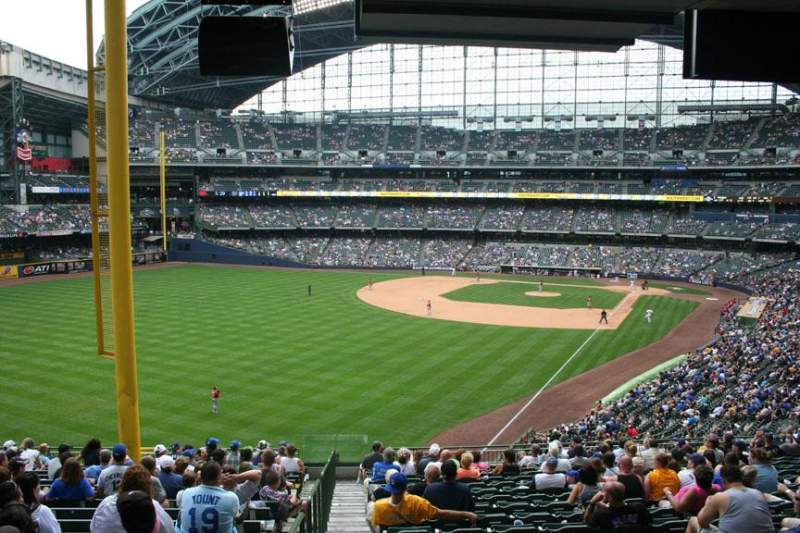Seating view for Miller Park Section 232 Row 18 Seat 29