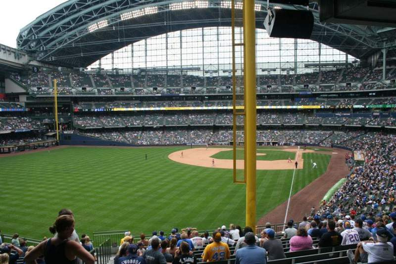 Seating view for Miller Park Section 233 Row 18 Seat Bench seat