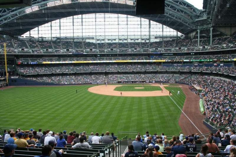 Seating view for Miller Park Section 234 Row 18 Seat Bench seat