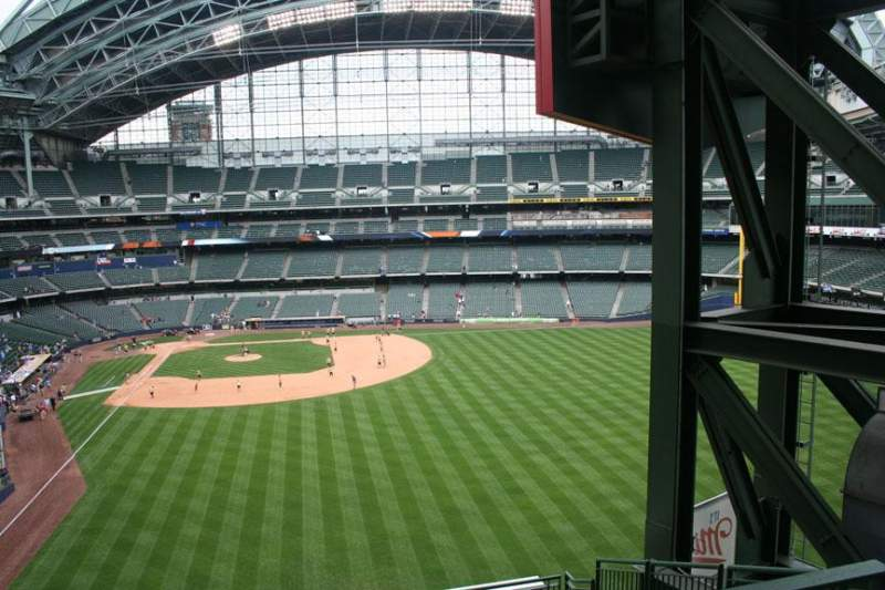 Seating view for Miller Park Section 302 Row 7 Seat 10