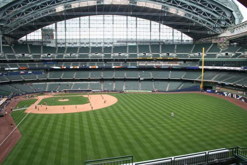 Seating view for Miller Park Section 303 Row 7 Seat 10