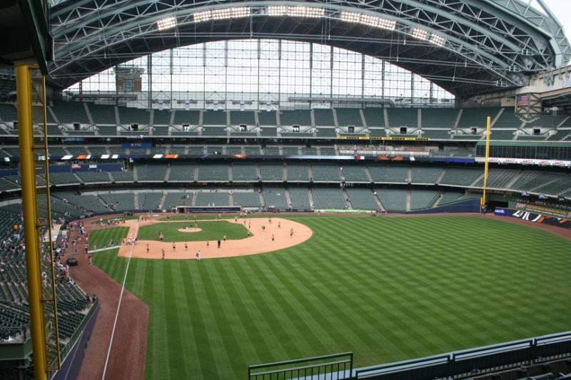 Seating view for Miller Park Section 305 Row 7 Seat 3