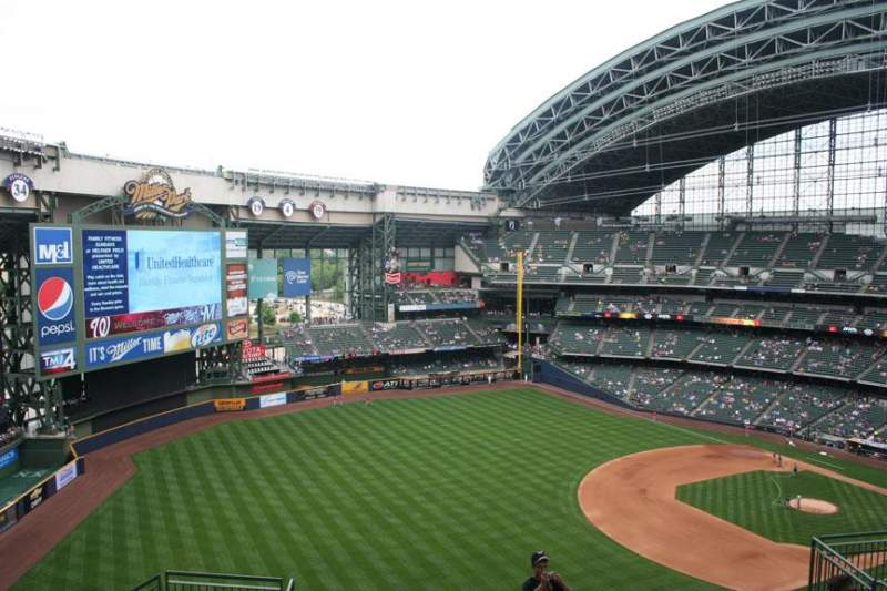 Seating view for Miller Park Section 435 Row 15 Seat 13