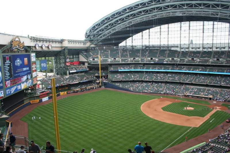 Seating view for Miller Park Section 438 Row 20 Seat 8