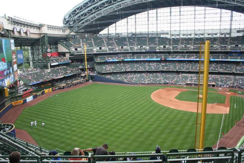 Seating view for Miller Park Section 440 Row 12 Seat 8