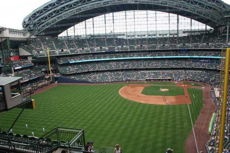 Seating view for Miller Park Section 441 Row 14 Seat 10
