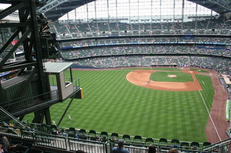 Seating view for Miller Park Section 442 Row 13 Seat 6