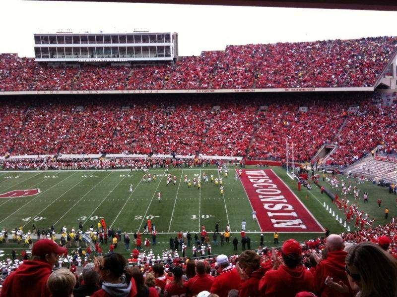 camp randall stadium section q row 68 seat 15. Black Bedroom Furniture Sets. Home Design Ideas