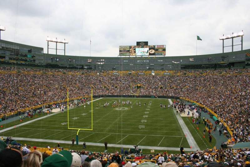 Seating view for Lambeau Field Section 135 Row 48 Seat 42