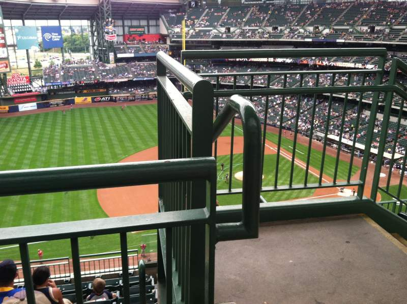 Seating view for Miller Park Section 431 Row 8 Seat 1