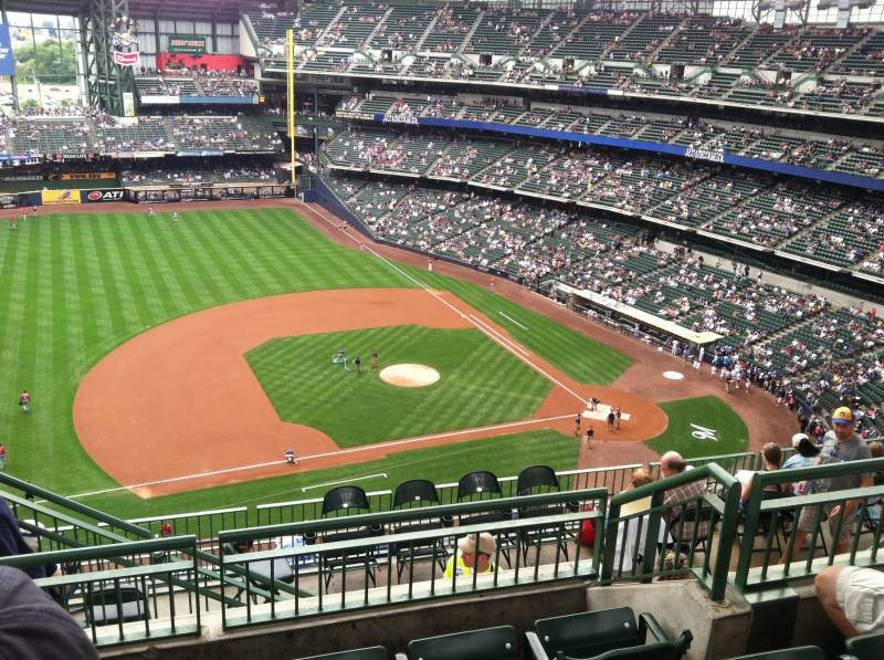 Seating view for Miller Park Section 430 Row 11 Seat 17